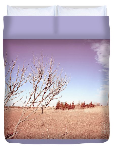 Duvet Cover featuring the photograph Winter Marshlands by Colleen Kammerer