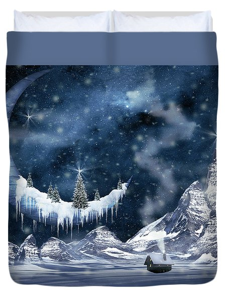 Winter Moon Duvet Cover