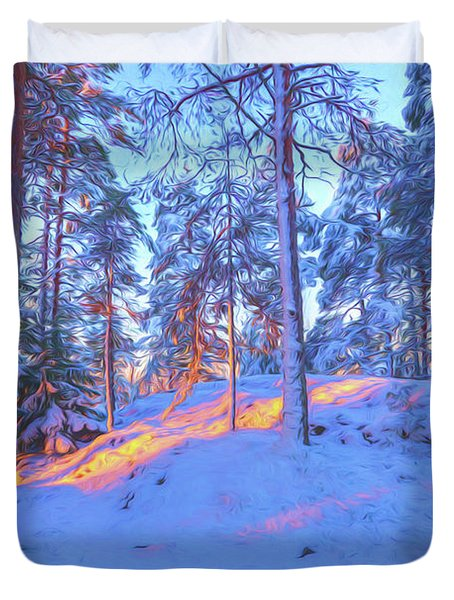 Winter Morning 2 Duvet Cover