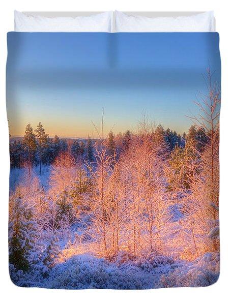 Winter Morning 3 Duvet Cover