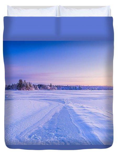 Winter Morning Baxter Lake Nh Duvet Cover