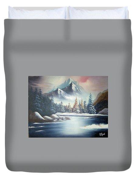 Winter Mountain Duvet Cover