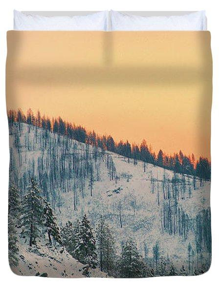 Winter Mountainscape  Duvet Cover