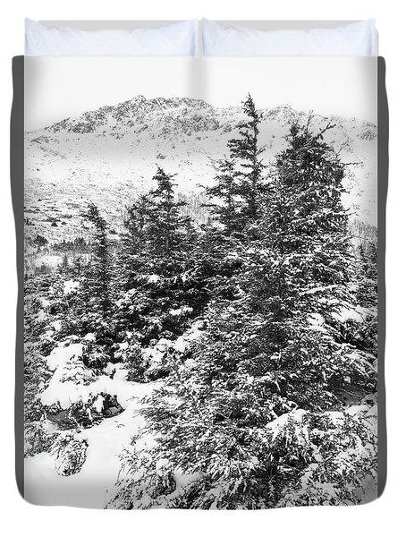 Winter Night Forest M Duvet Cover