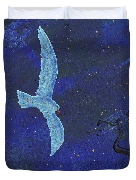 Winter Night Duvet Cover