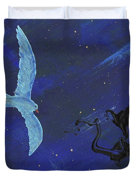 Winter Night Duvet Cover