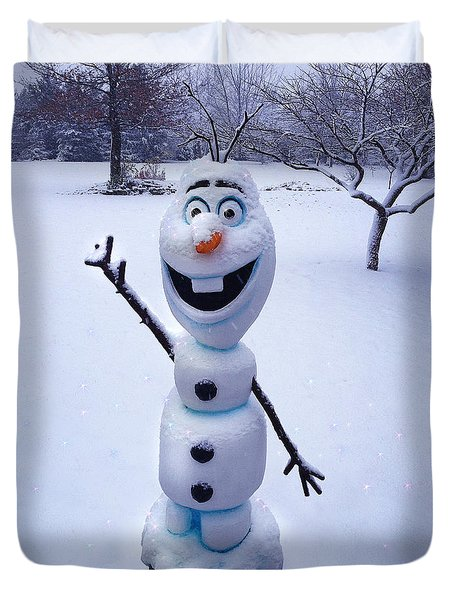 Winter Olaf Duvet Cover