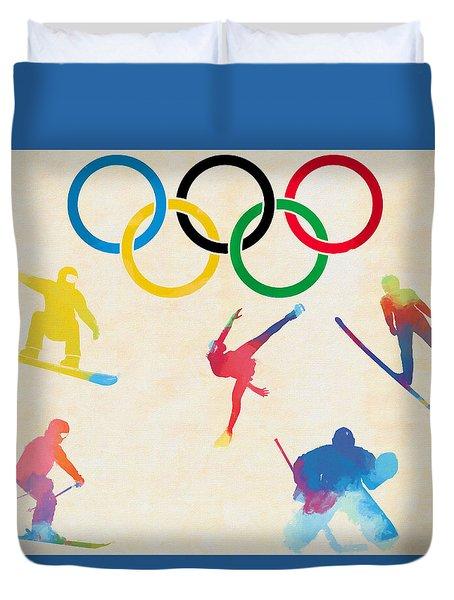 Winter Olympics Games Duvet Cover