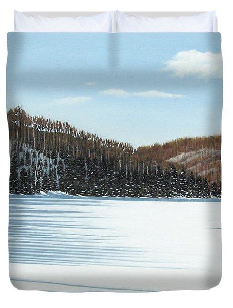 Winter On An Ontario Lake  Duvet Cover