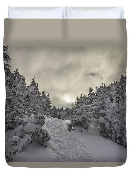 Winter On The Ammo Trail Duvet Cover