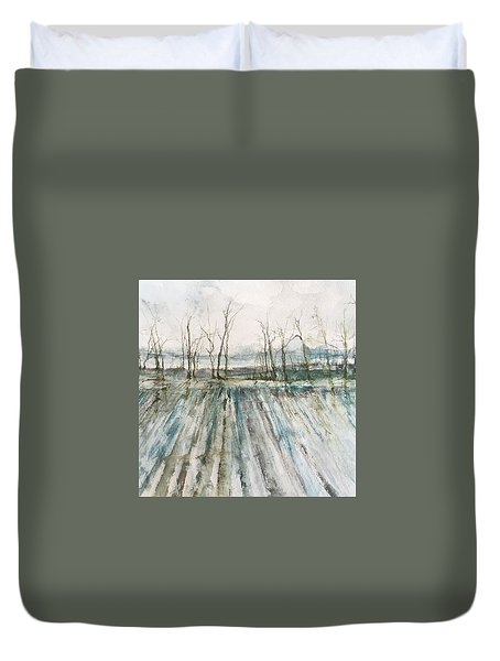 Winter On The Delta Duvet Cover