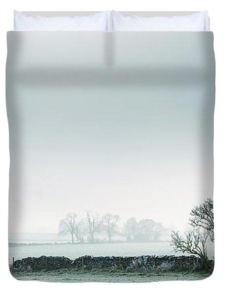 Winter On The Mendips Duvet Cover