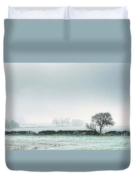 Winter On The Mendips Duvet Cover