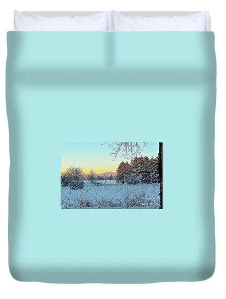 Winter On The Tree Farm Duvet Cover