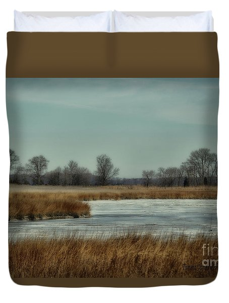 Winter On The Water Duvet Cover