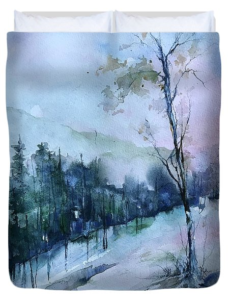 Winter Paradise Duvet Cover