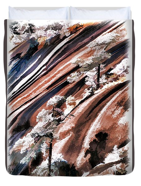 Winter Pines Duvet Cover