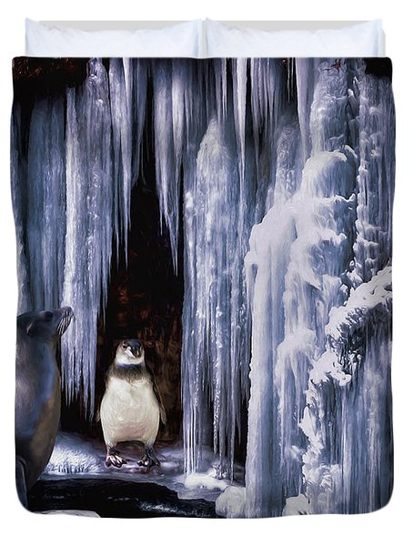 Winter Playground Duvet Cover