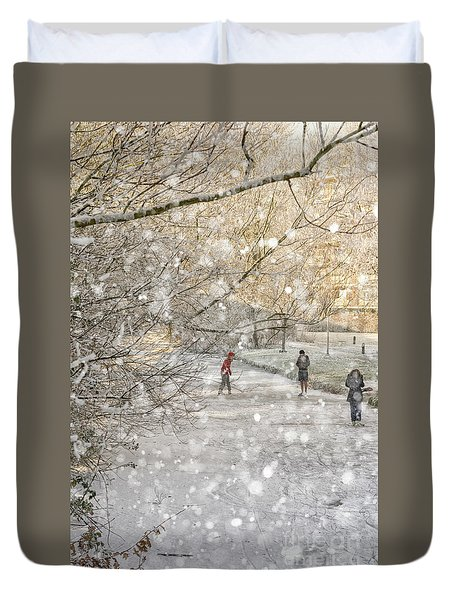 Winter Pleasures Duvet Cover
