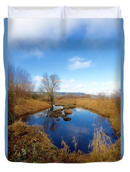 Winter Pond Duvet Cover by Sean Griffin