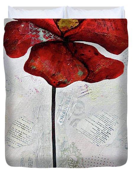 Winter Poppy I Duvet Cover