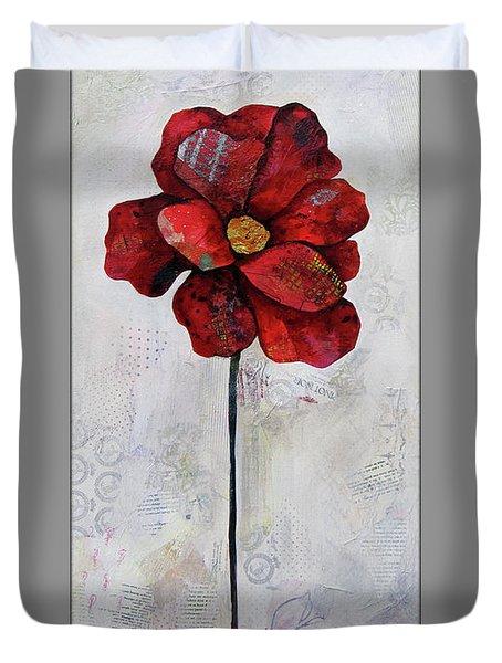 Winter Poppy II Duvet Cover