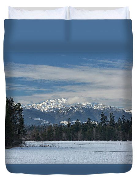 Duvet Cover featuring the photograph Winter by Randy Hall