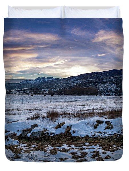 Sunset Range Duvet Cover