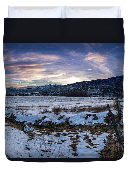 Sunset Range Duvet Cover