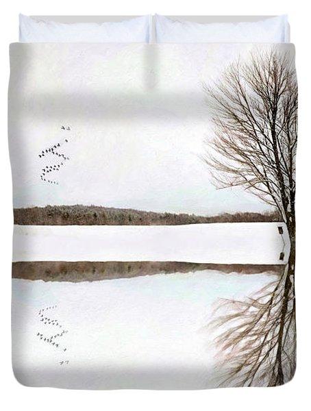 Winter Reflection Duvet Cover