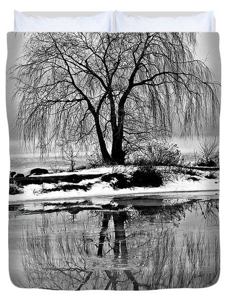 Winter Reflections Duvet Cover