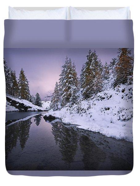 Winter Reverie Duvet Cover by Dominique Dubied
