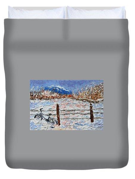 Winter Ride Duvet Cover
