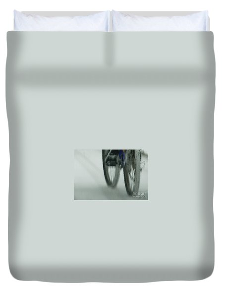 Winter Ride Duvet Cover