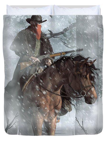 Winter Rider Duvet Cover