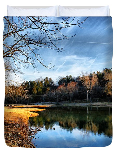 Duvet Cover featuring the photograph Winter River by Rick Friedle