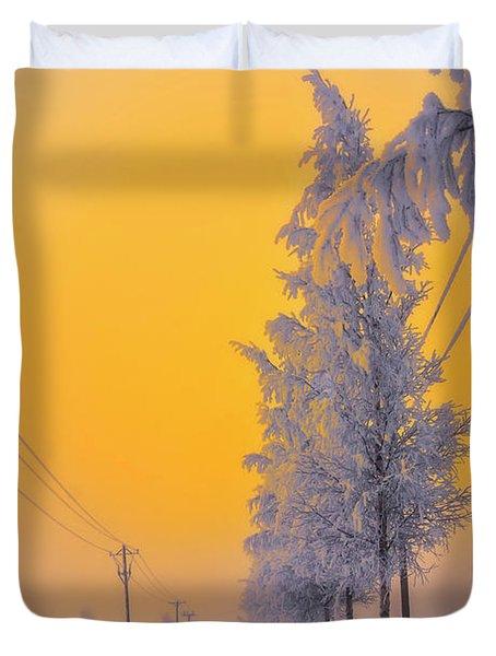 Winter Road 2 Duvet Cover