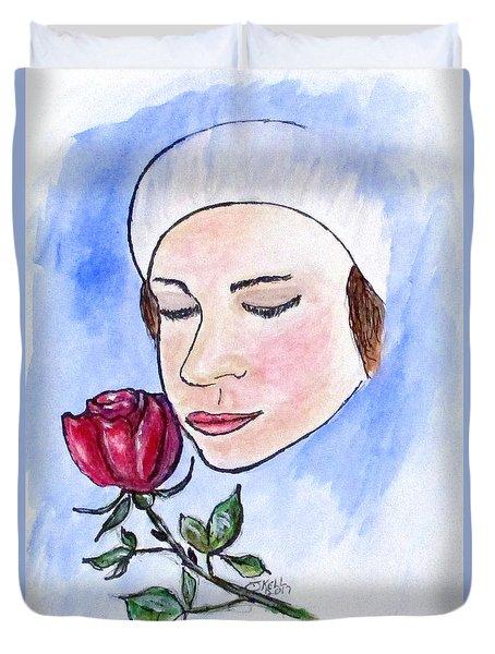 Winter Rose Duvet Cover by Clyde J Kell