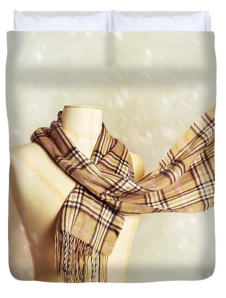 Winter Scarf Duvet Cover