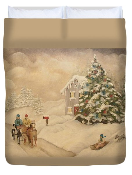 Winter Scene Duvet Cover by John Stuart Webbstock