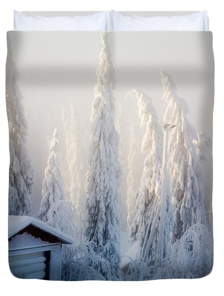 Winter Scene Duvet Cover