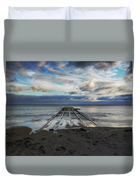 Winter Sea Duvet Cover
