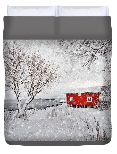 Winter Secret Duvet Cover