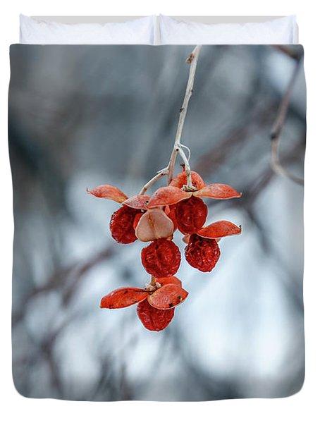 Winter Seeds Duvet Cover