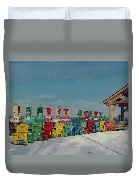 Winter Sentries Duvet Cover