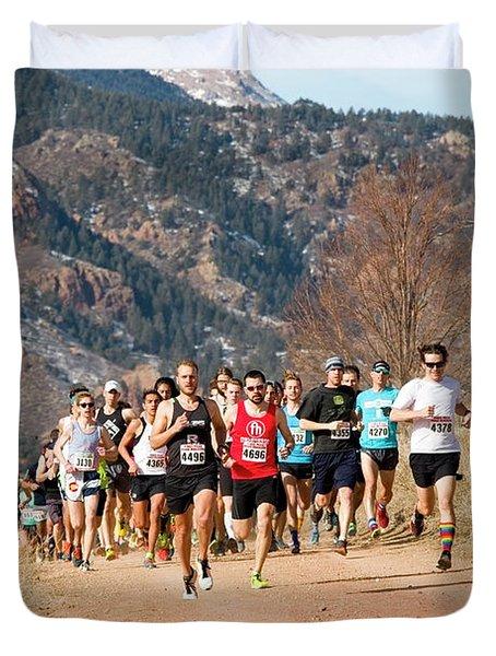 Winter Series II Peakrunners Duvet Cover