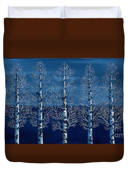 Winter Shadows Duvet Cover by Rebecca Parker