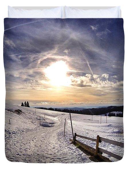 Winter Sky Duvet Cover