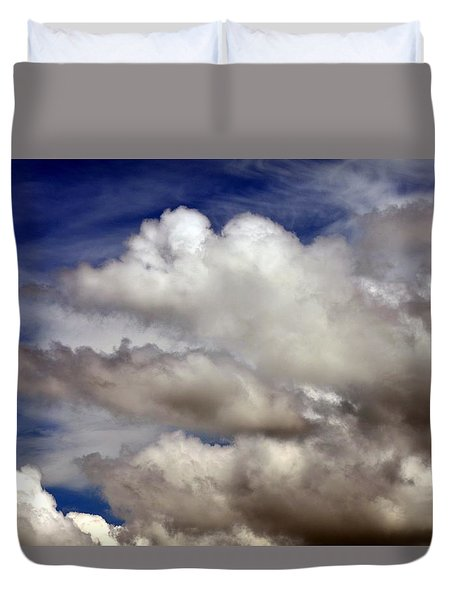 Winter Snow Clouds Duvet Cover