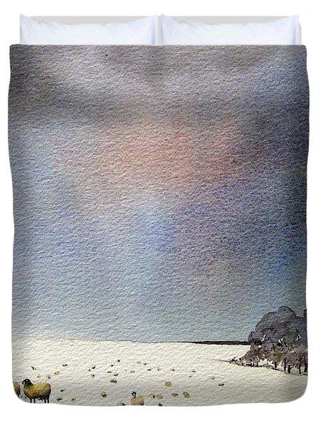 Winter Snow Swaledale Duvet Cover by Paul Dene Marlor